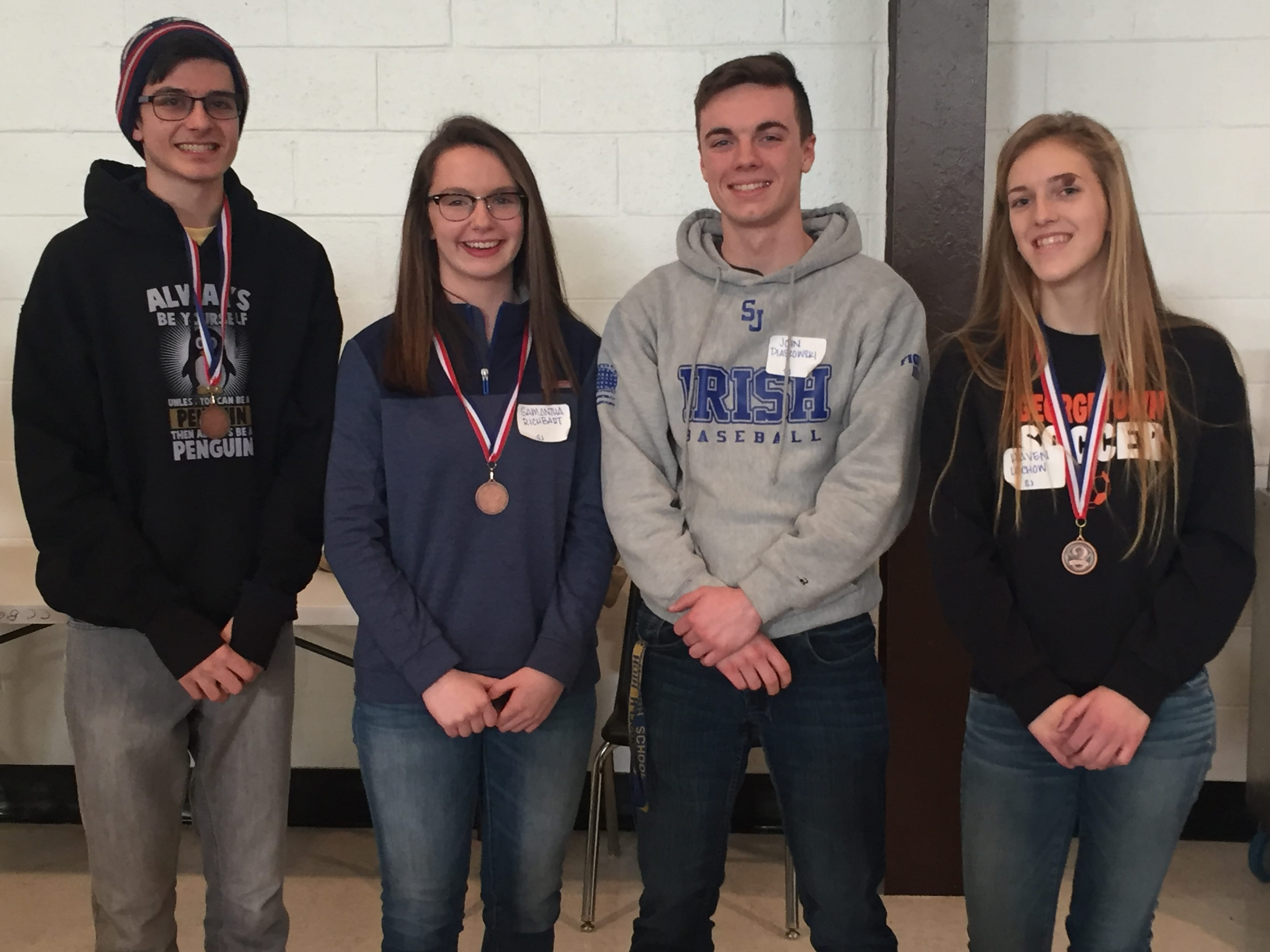 The top 10 high school students (10th – 12th grades) from Cabell County  will move on to the Regional Competition.