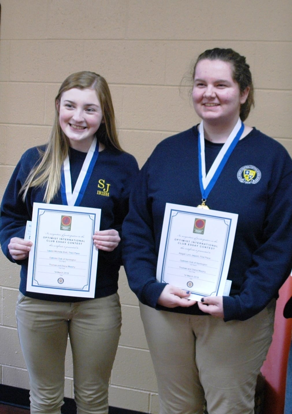 Congratulations to the Optimist Club Essay Contest Winners | St ...